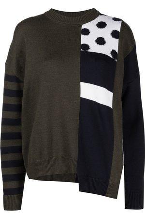 MONSE Dot intarsia patched jumper