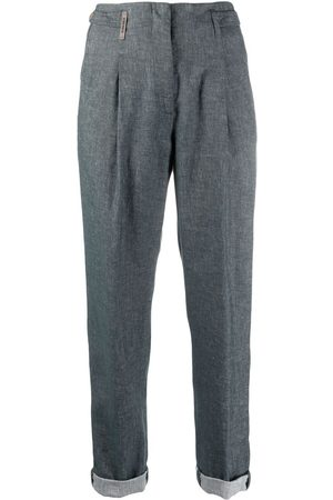 PESERICO SIGN Cropped slim-cut trousers
