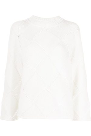 Closed Woven-knit cotton jumper