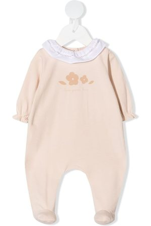 KNOT Floral embroidered babygrow - Neutrals