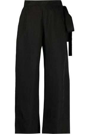 MASNADA Cropped flared-leg trousers