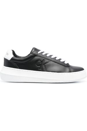 Calvin Klein Embossed logo leather sneakers