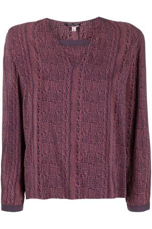 Giorgio Armani 1990s abstract print blouse