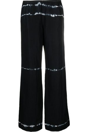 Giorgio Armani Women Wide Leg Trousers - 2000s tie-dye print wide-leg trousers