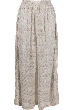 Missoni Signature-weave metallic trousers - Neutrals