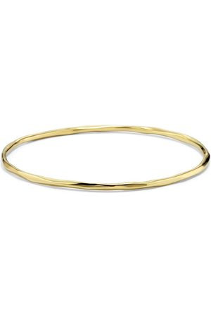 Ippolita 18kt yellow thin faceted Classico bangle