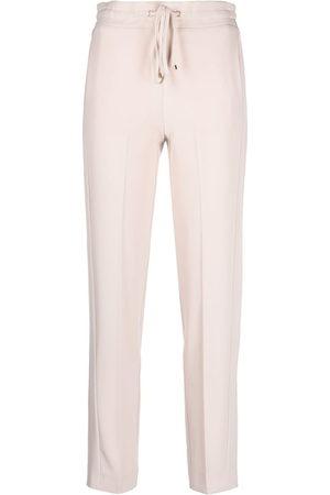 BLUMARINE Drawstring slim-fit trousers - Neutrals