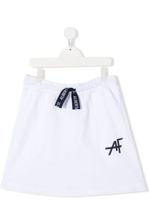 Alberta Ferretti TEEN logo-print track skirt
