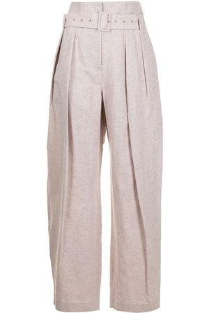 Low Classic Women Wide Leg Trousers - High-waisted wide leg trousers