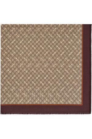 Gucci Men Scarves - GG Horsebit-print silk scarf - Neutrals