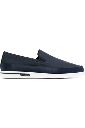 Prada Men Loafers - Almond-toe slip-on loafers