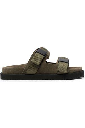 Buttero Double strap suede sandals