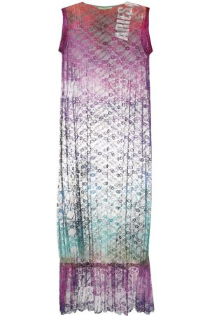 ARIES Women Midi Dresses - Floral-lace midi dress
