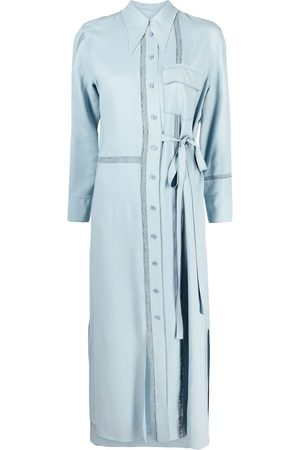 Chloé Women Casual Dresses - Lace-insert long shirt-dress
