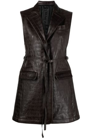 Peter Do Crocodile-embossed leather waistcoat