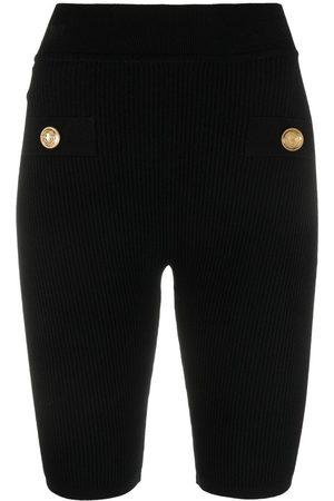 Balmain Button-embellished cycling shorts