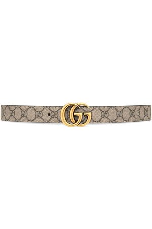Gucci Women Belts - GG Marmont reversible belt - Neutrals