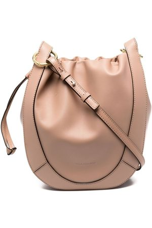 ULLA JOHNSON Ruched leather tote bag - Neutrals