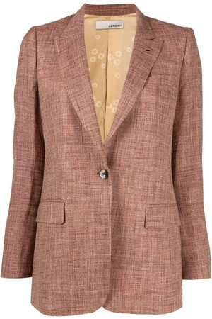 LARDINI Women Blazers - Single-breasted slub texture blazer