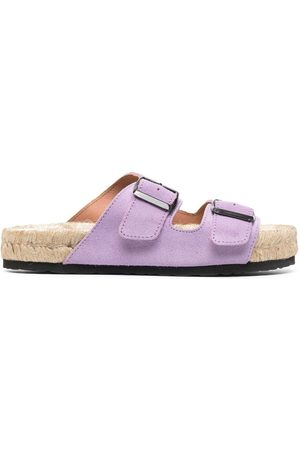 MANEBI Women Sandals - Buckled platform sandals