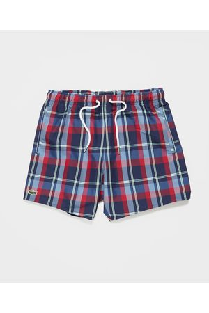 Lacoste Men's Madras Swim Shorts
