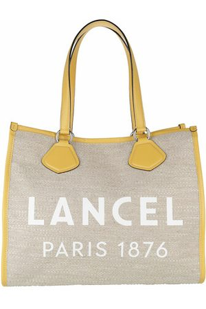 LANCEL Women Shopper & Tote Bags - Tote Bags - Summer Jute Canvas And Smooth Leather Tote Large - - Tote Bags for ladies