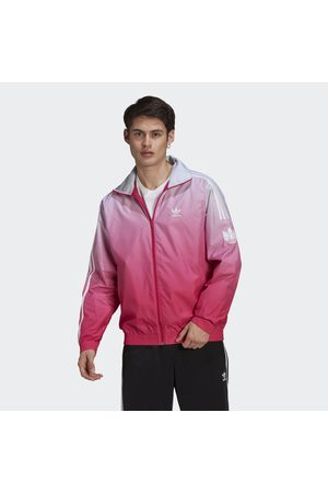 adidas Men Summer Jackets - Adicolor 3D Trefoil 3-Stripes Ombré Track Top