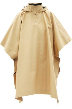 Kassl Editions Hooded Cotton-blend Gabardine Cape Coat - Womens