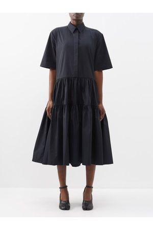 Cecilie Bahnsen Primrose Tiered Cotton-poplin Shirt Dress - Womens