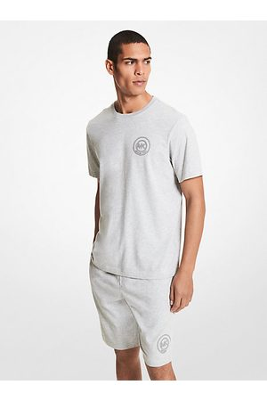 Michael Kors Polo Shirts - MK Logo Cotton T-Shirt - Heather