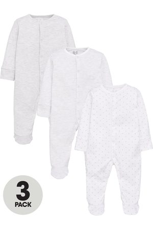 Mini V by Very Baby Unisex 3 Pack Essentials Sleepsuits