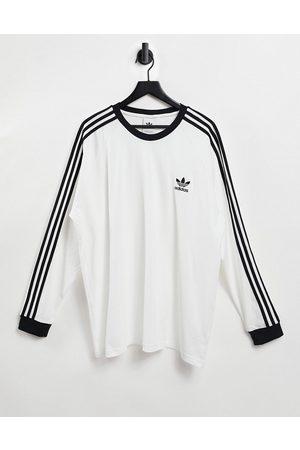 adidas Originals Adicolor three stripe long sleeve t-shirt in
