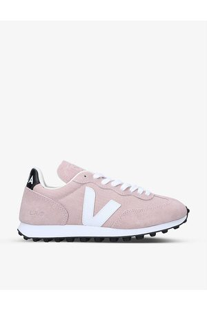 Veja Women's Rio Branco mesh and leather trainers