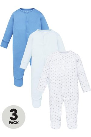 Mini V by Very Baby Boys 3 Pack Essentials Sleepsuits