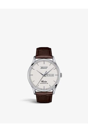 Tissot T1184301627100 Heritage Visodate stainless-steel and alligator-embossed leather-strap automatic watch