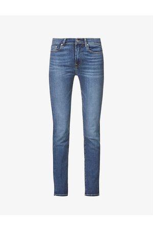 7 for all Mankind Roxanne Bair skinny mid-rise stretch-denim jeans