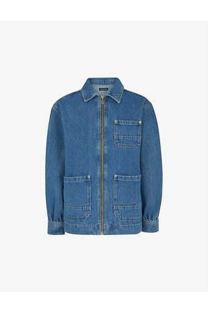 Whistles Cargo organic-cotton denim jacket