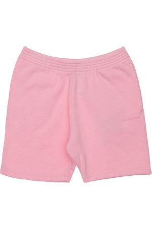 Balenciaga Girls Sweatshirts - Logo Print Cotton Sweat Shorts