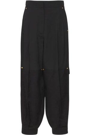 Loewe High Waist Viscose Blend Balloon Pants