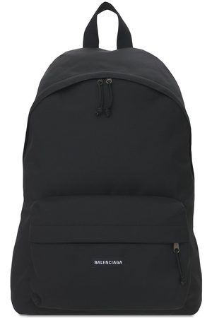 Balenciaga Logo Detail Nylon Backpack