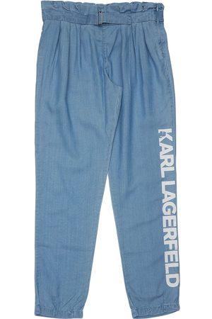 Karl Lagerfeld High Waist Lyocell Pants