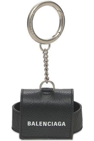 Balenciaga Logo Leather Airpods Case