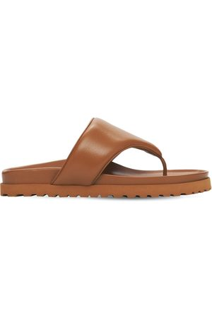 GIA 20mm Padded Leather Thong Sandals