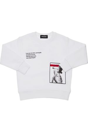 Dsquared2 D2xibra Printed Cotton Sweatshirt