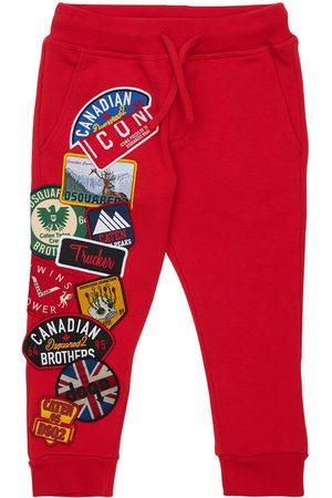 Dsquared2 Cotton Sweatpants W/ Patches