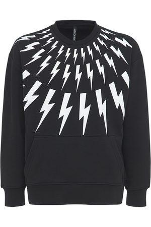 Neil Barrett Thunderbolt Print Jersey Sweatshirt