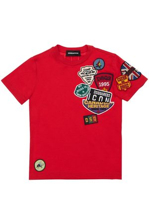 Dsquared2 Cotton Jersey T-shirt W/ Patches
