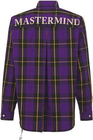 MASTERMIND WORLD Oversize Reversible Plaid Cotton Shirt
