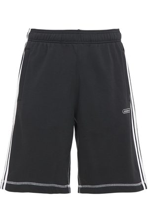 ADIDAS ORIGINALS Contrast Cotton Blend Sweat Shorts