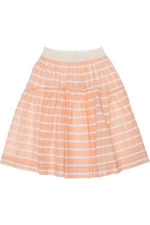 Unlabel Striped Cotton Blend Skirt